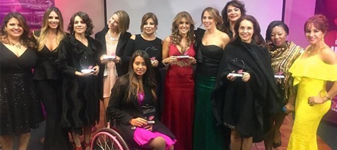 Marie Griffin fue homenajeada, junto a otras distinguidas mujeres, en la III entrega de los Premios MujerEva emc
