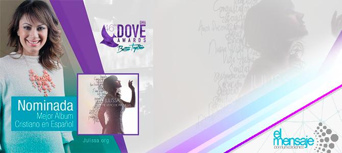 Julissa nominada al Dove Award con «Me vistió de promesas»