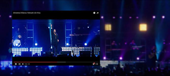 Christine D'Clario  lanza videos de  «Eterno Live» completamente gratis