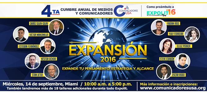 Comunicadores USA celebrará su IV Cumbre en Expolit