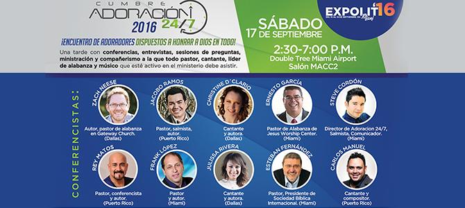 Adoración 24/7 realizará su 5ta cumbre de Adoradores en Expolit 2016