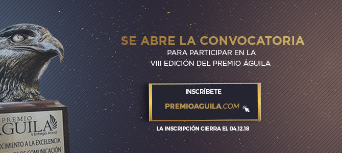 Se abre la convocatoria para participar en la VIII Entrega del Premio Águila