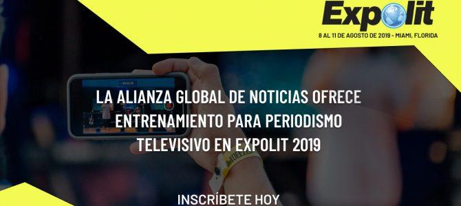 La Alianza Global de Noticias ofrece entrenamiento para periodismo televisivo en Expolit 2019